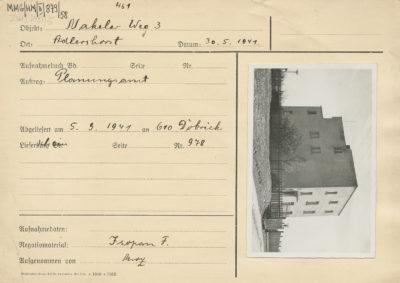 Karta ewidencyjna budynku przy ulicy Mierniczej 3