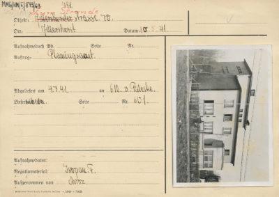 Karta ewidencyjna budynku przy ul. Orłowskiej 70