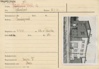 Karta ewidencyjna budynku przy ul. Orłowskiej 14