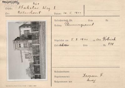 Karta ewidencyjna budynku przy ulicy Mierniczej 8