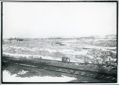 Bocznica kolejowa i teren budowy portu tymczasowego