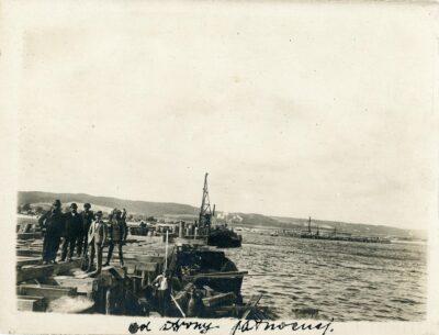 Budowa portu tymczasowego – widok od strony północnej