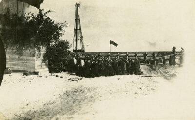 Uroczystość poświęcenia rozpoczętej budowy portu tymczasowego w Gdyni